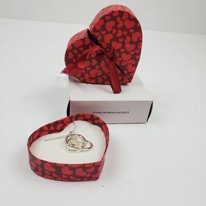 NIB Avon Loving Moments Heart Necklace in Gift Box